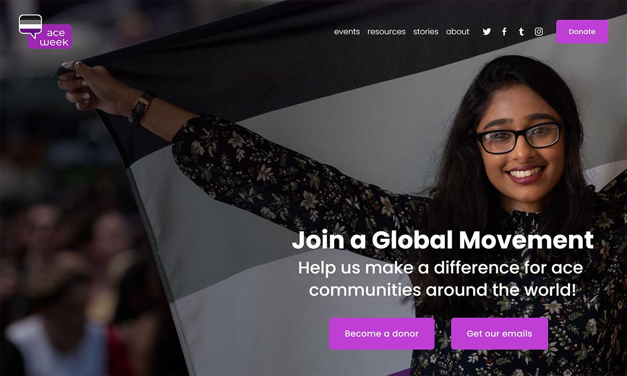 A screenshot of the website aceweek.org